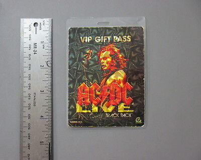 AC/DC backstage pass Laminated VIP Gift Pass Rockband in 3D !!!