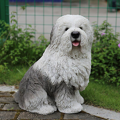 Old English Sheepdog Figurine Resin Dog Statue Ornament Canine Home Decor New