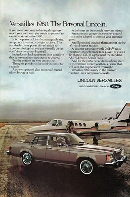 Ford Lincoln Versailles 1980 - Vintage Ads # 402