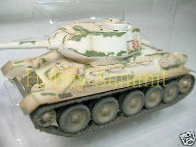 1/72 Russian Army WWII T-34 /85 Tank Winter Soviet  Finished Painted Model