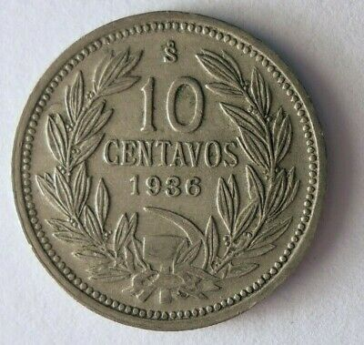 1936 CHILE 5 CENTAVOS - Condor - High Quality Coin - FREE SHIP - Chile Bin B