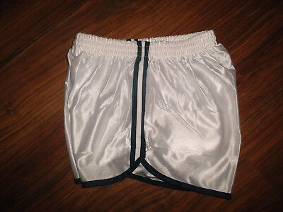 vintage Nylon Shorts oldschool sport gym jogging glanz shiny pants T84 S/M