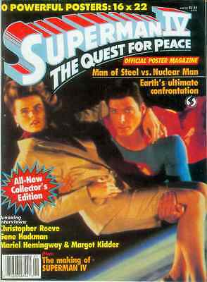 Superman IV: Quest For Peace Official Poster Magazine (USA, 1987)
