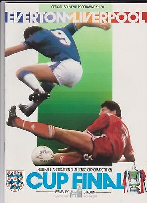 1986 F.A.Cup Final.Everton v Liverpool.