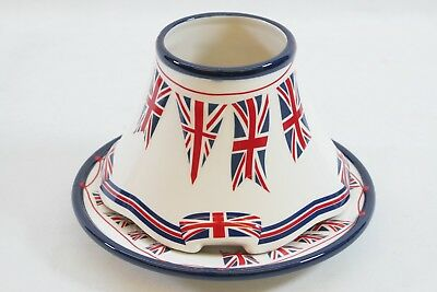 Yankee Candle Union Jack Large Lamp Shade And Tray Plate
