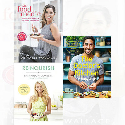 Doctor's Kitchen Rupy Aujla 3 Books Collection Set The Food Medic Re-Nourish