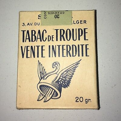 Paquet 20 Cigarettes Troupe Algerie Tobacco Tabacs Ancien Pack Old France Guerre