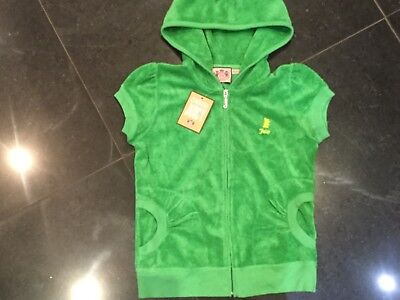 NWT Juicy Couture New & Genuine Girls Age 8 Green Cotton Hoody With Juicy Logo