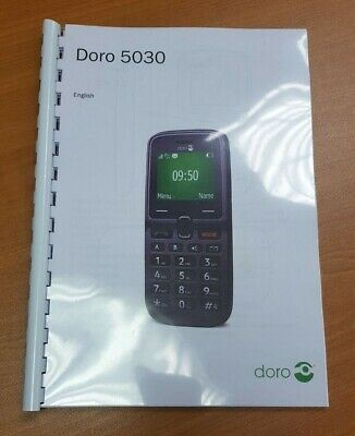 Doro 5030 Printed Instruction Manual User Guide 52 Pages A5