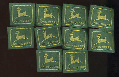 Lot Of 10 Nos Small John Deere Cloth Patches