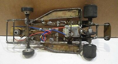 vintage 1:24 slot car RUNNING CHASSIS auto racing race cars