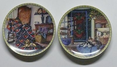 Coozy Country Corners >> Set Of Two(2) > Limited Edition Collector Plates Series