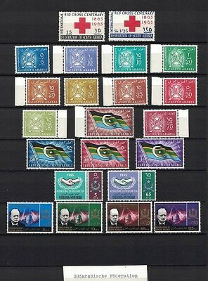 Südarabische Föderation Federation of South Arabia 1963-66 Minr 1 - 29 ** / mnh