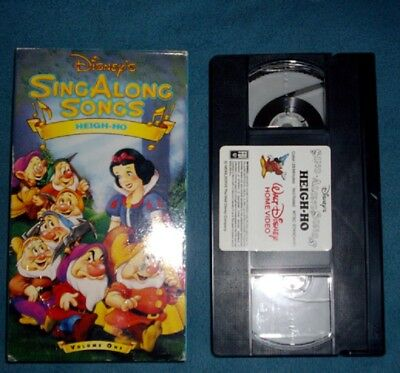 Vintage Walt Disney Sing a Long Songs Heigh Ho Volume One VHS Movie Snow White