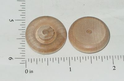 """Marx 1"""" Wood Replacement Wheel/Tire Toy Part"""