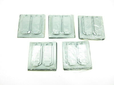 Lot Of 5 New Red Dot 2Ccd Duplex Outlet Box Cover 2 Gang D591962
