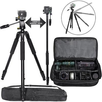 "72"" Tripod/Monopod + X-Large Camera Bag for DSLR Cameras & Camcorders"