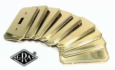VINTAGE POLISHED BRASS Designer SWITCH PLATE MADE IN ITALY SIGNED GRA Rivadossi