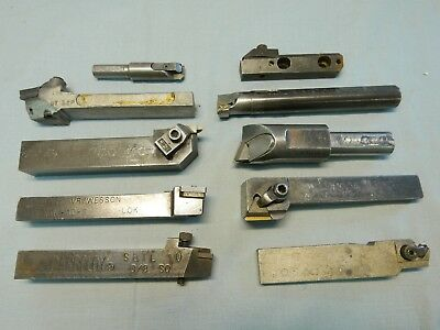 10 LATHE TOOL HOLDERS INDEXIBLE CARBIDE by KENNAMETAL CARBOLOY WESSON