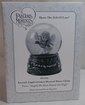 Precious Moments Musical Water Globe 161105 - Annual Angel - New in Box