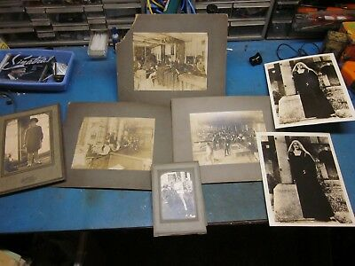 Lot of 7 Antique Black & White Photograph Pictures From Late 1800's Early 1900's