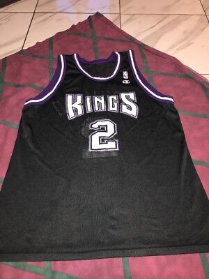 Vtg 90s Mitch Richmond Sacramento Kings Champion Jersey Sz48-52 USA Made A 5b774d4ea