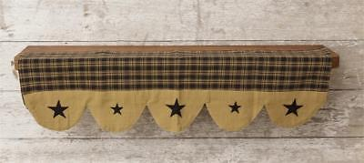 PRIMITIVE DECOR  Shelf Liner - Primitive Star Black