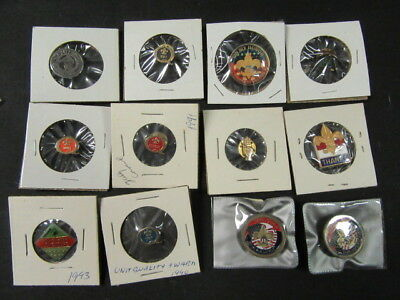 Boy Scout Hat and Lapel Pin Collection.  Lot of 29  some older J5a