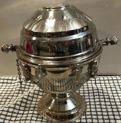Antique Redfield & Rice Silverplated Domed Butter Dish w Pivot Lid