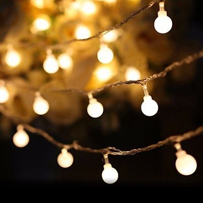 LED Ball Bulb String Lights Fairy Party Christmas Wedding Party In/Outdoor Decor