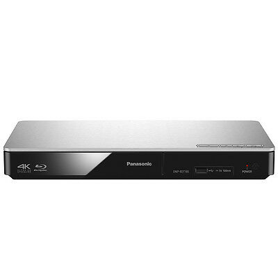 Panasonic DMP-BDT185EG silber Blu-ray Player 3D ready 4K Upscaling HDMI