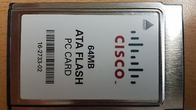 Cisco Original 16-2733-02 64MB PCMCIA/Card-bus Flash Memory Card