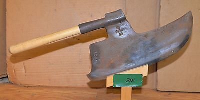 Huge vintage fancy European goosewing axe blacksmith stamped collectible ax tool