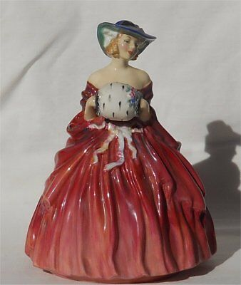 Vintage 1950s Royal Doulton Genevieve Figurine Hand Printed Initials