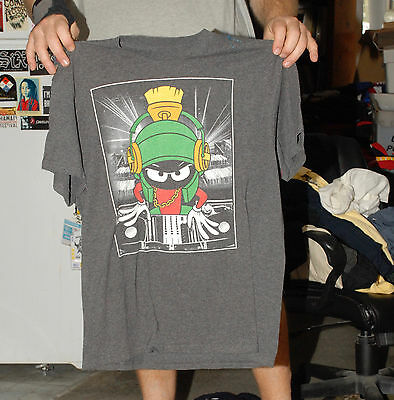 Marvin The Martian As A Dj Looney Tunes T Shirt Large Bugs Bunny Taz Porky Pig