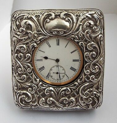Lovely English Antique Rolled Gold Pocket Watch With Solid Silver Night Stand