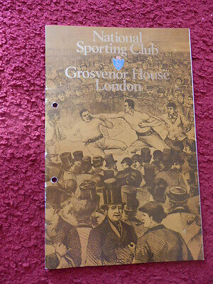 Boxing Programme-National Sporting Club-1984-Lithgow V Segor