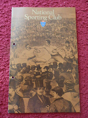 Boxing Programme -National Sporting Club 1983-Laing V Brown