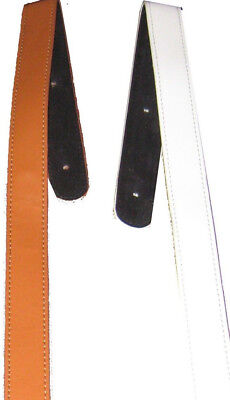 Extra Long Backed Leather Guitar Strap Extenders