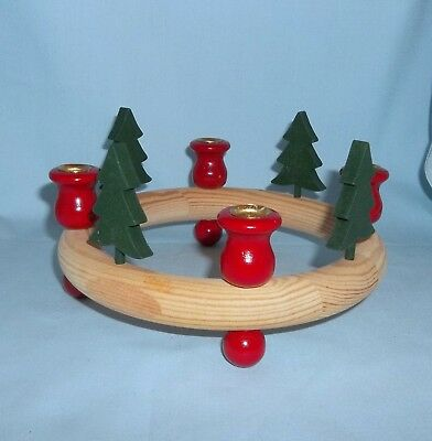 Pine Tree Pine Ring Candle Holder (4 Candle Slots)