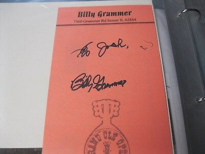 Billy Grammer Grand Ole Opry Star Autograph