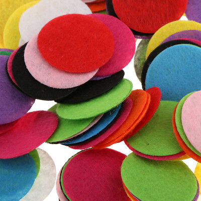 100 Pieces Rainbow Circle Fabric Table Wedding Baby Shower Confetti Party Decor