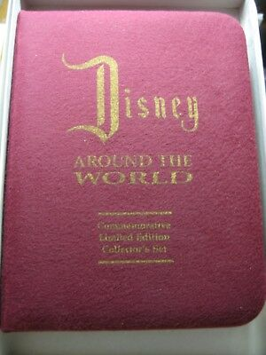 Display Case Only For Disney Around The World 7 Silver Coins----No Coins Come