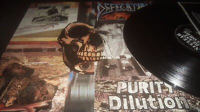 Defecation – Purity Dilution original nb press 89 12 inch napalm death unseen t