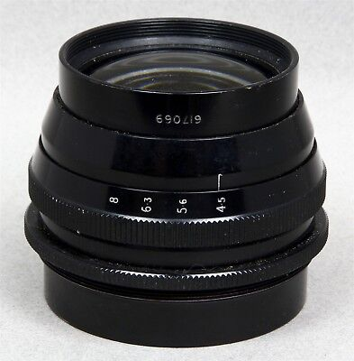 """RANK TAYLOR HOBSON 8-1/4"""" f/4.5 XEROX Barrel Lens Made in England Selling AS-IS"""