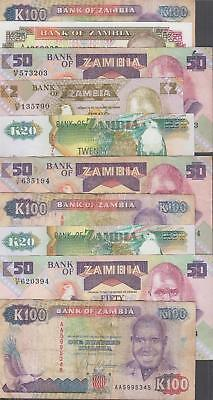 10 Banknotes from Zambia