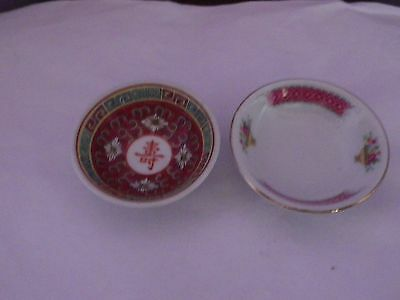 Two Vintage Chinese Porcelain Small Bowls 6.5 Cms & 7 Cms Diameter