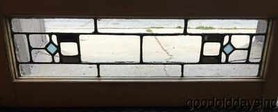 "1 of 2 Stained Leaded Glass Transom Windows Window 33"" by 12"""