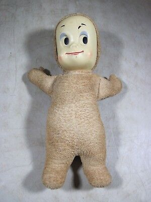 Vintage 1960's Casper The Friendly Ghost Plush Stuffed Doll Parts/Repair