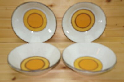 """Midwinter Sun (4) Cereal Bowls, 6 1/2"""""""